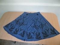 Fusta albastra cu brau elastic