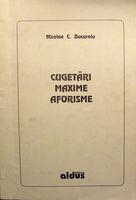Cugetari, Maxime, Aforisme - Nicolae C. Bucuroiu