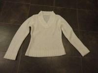 pulover alb S