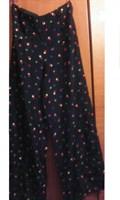 Pantaloni vara bleumarin cu buline
