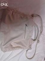 geanta de culoare alb/crem