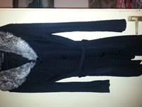 pulover negru lung