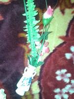 Mini vază cu flori artificiale