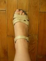 Sandale piele bej nr 37