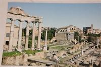 Carte postala cu ramasite din Forum Roman