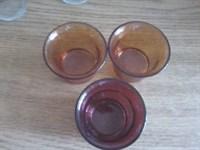 3 suporti din sticla pentru pastile lumanari - (2)