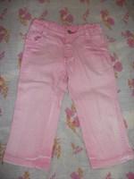 Jeans / blugi bebe roz cu elastic ajustabil, mar. 86 (18-24 LUNI)