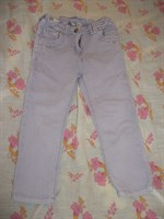 Jeans / blugi mov fetita cu elastic ajustabil, marimea 98 (2-3 ANI)