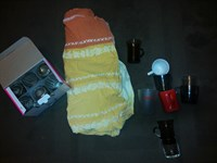 Pahare, cani, farfurii, cearsaf, supprt textil pt usa