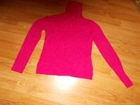 imbracaminte39 -puloveras roz cu guler inalt