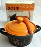 Castronel pentru supa, cu lingura si capac