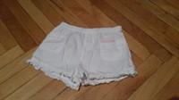 Pantaloni scurti fetita H&M, albi, marimea 104