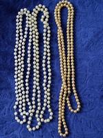 3 coliere din perle