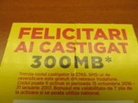 300 MB Bonus de date Vodafone