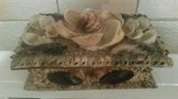 Cutie bijuterii decorata cu scoici