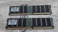2 module memorie Infineon 512 MB DDR 400 CL3