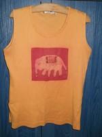 tricou portocaliu cu elefantel