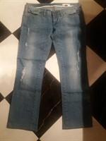 Jeans dama Kenvelo Straight, cu model taieturi, marimea 30/32