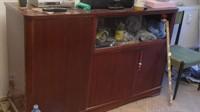 Mobilier vechi lemn (pat, dulap, bufet)
