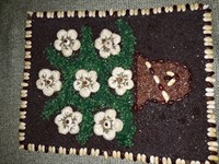 Tablou din seminte (flori albe)