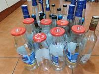 Sticle cu capac metalic