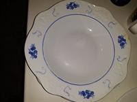 2 farfurii supa decor albastru