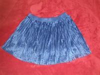 Fusta albastra plisata Terranova