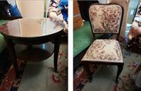 Masuta rotunda si 4 scaune
