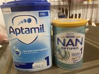 Donez 1 cutie lapte praf Aptamil si 1 cutie Nestle Nan Optipro