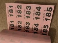 Carnet cu bonuri de ordine 1-500